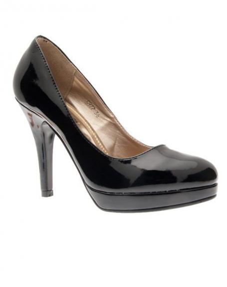 Chaussures femme C.H. Creation: Escarpins vernis noires