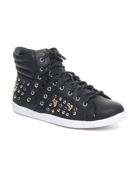Chaussures femme Cocoperla: Basket clouté noire