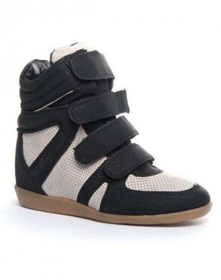Célèbre Chaussure femme Cocoperla: Basket compensée montante noire RB81