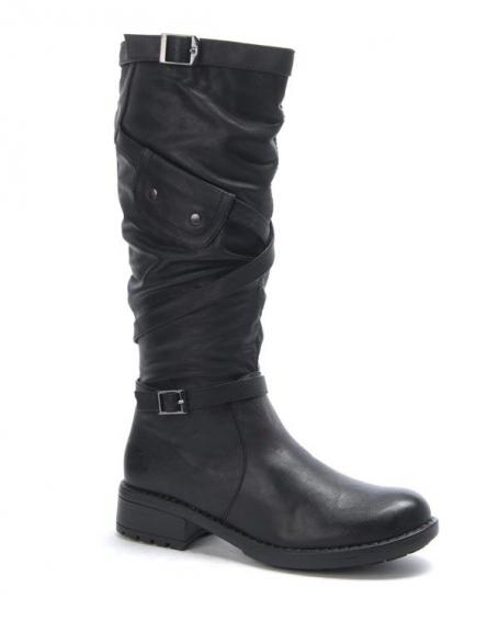 Chaussures femme Dazawa: Botte noire
