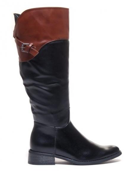 Chaussures femme Dazawa: Bottes cavalières noire
