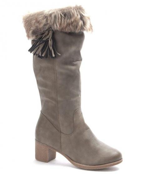 Chaussures femme Dazawa: Bottes fourré camel