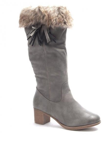 Chaussures femme Dazawa: Bottes fourré gris