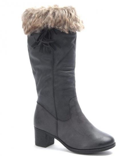 Chaussures femme Dazawa: Bottes fourré noire