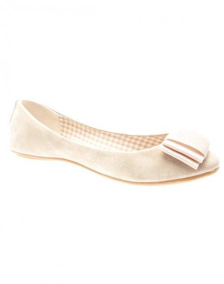 Chaussures femme Farasion: Ballerines beiges