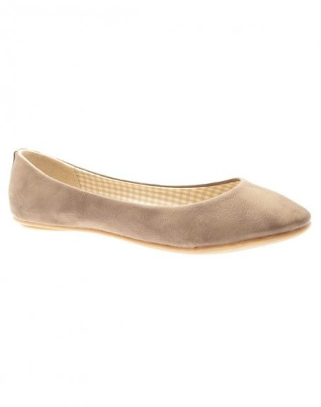 Chaussures femme Farasion: Ballerines Taupes