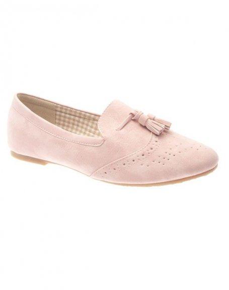 Chaussures femme Farasion: Derbies roses