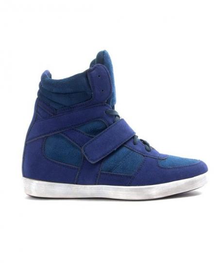 Chaussures femme Findlay: Basket compensée bleu