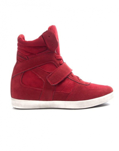 Chaussures femme Findlay: Basket compensée rouge