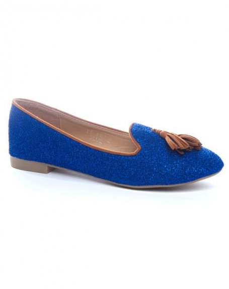 Chaussures femme Ideal: Ballerines bleues