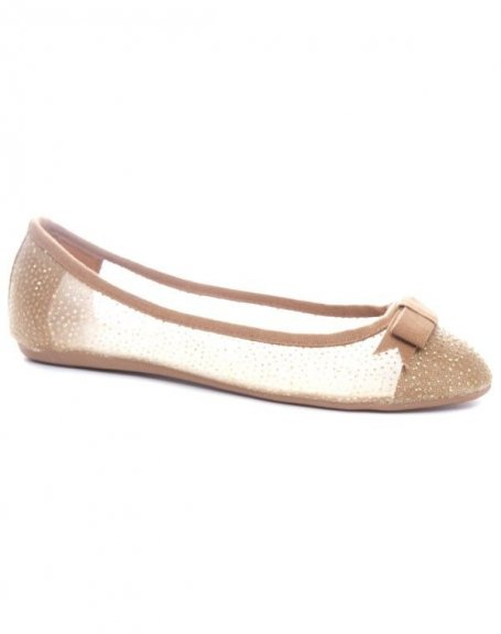 Chaussures femme Ideal: Ballerines camels