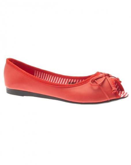 Chaussures femme Ideal: Ballerines rouges