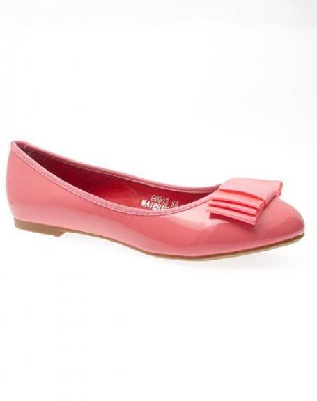 Chaussures femme Ideal: Ballerines vernis rose