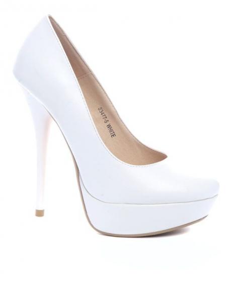 Chaussures femme Ideal: Escarpin blanc