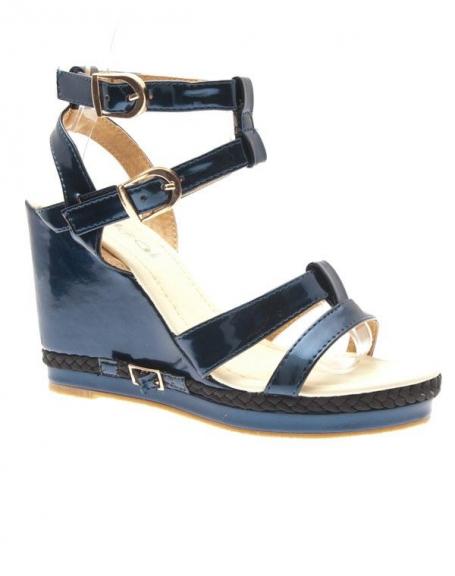 Chaussures femme Ideal: Escarpins compensés bleu