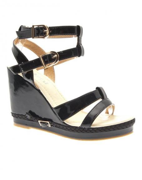 Chaussures femme Ideal: Escarpins compensés noirs