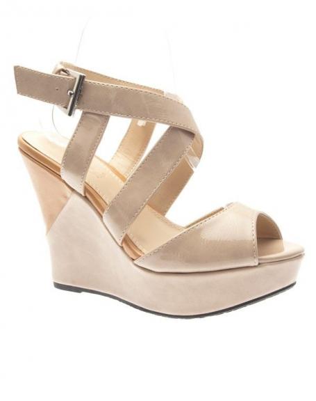 Chaussures femme Ideal: Escarpins compensés taupe