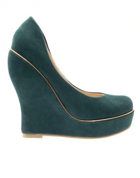 Chaussures femme Ideal: Escarpins compensés Verts