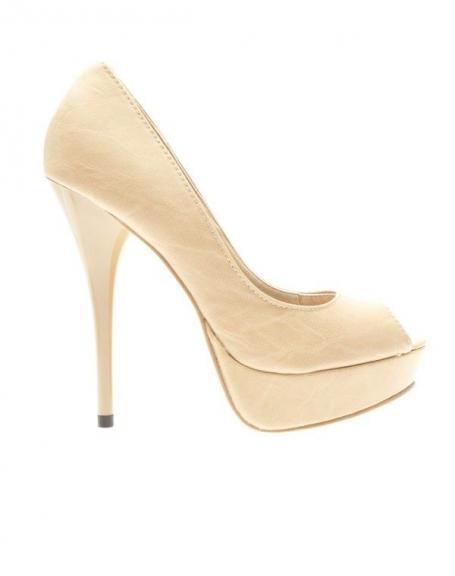 Chaussures femme Ideal: Escarpins ouverts Abricot