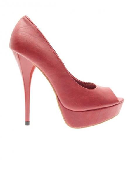 Chaussures femme Ideal: Escarpins ouverts rouge
