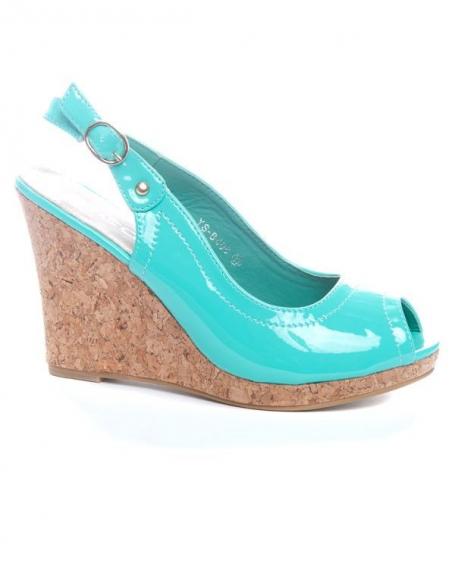 Chaussures femme Ideal: Escarpins ouverts verts