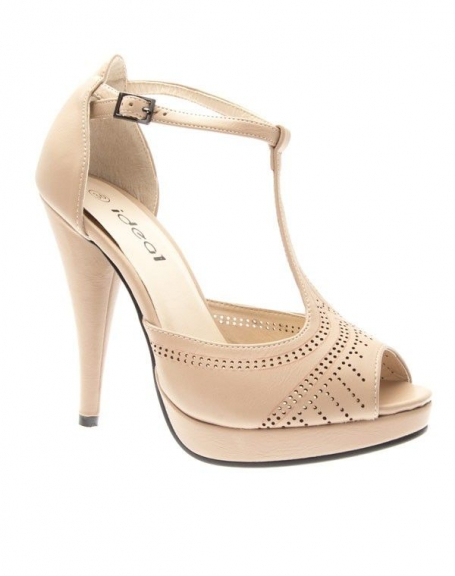 091f07cc25b Chaussures femme Ideal  Escarpins style Salomé Beige