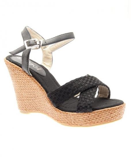 Chaussures femme Ideal: Sandales à brides noires