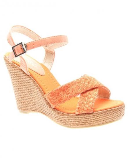 Chaussures femme Ideal: Sandales à brides oranges