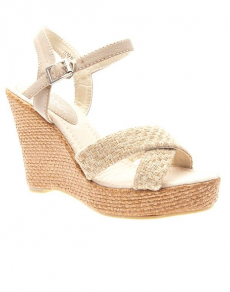 Chaussures femme Ideal: Sandales à brides taupe