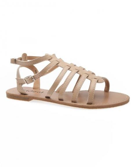 Chaussures femme Ideal: Spartiates beige