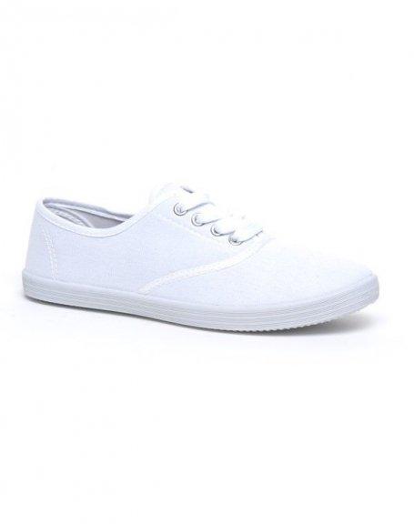 chaussure femme ideal tennis blanc. Black Bedroom Furniture Sets. Home Design Ideas