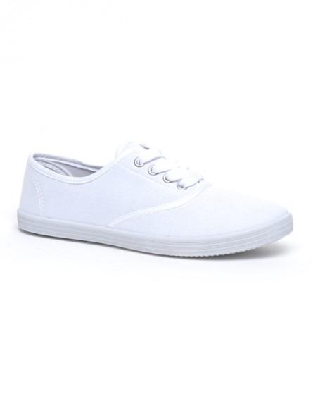 Chaussures femme Ideal: Tennis blanc