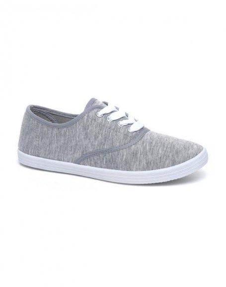 634de69dc0643 Chaussures femme Ideal: Tennis gris