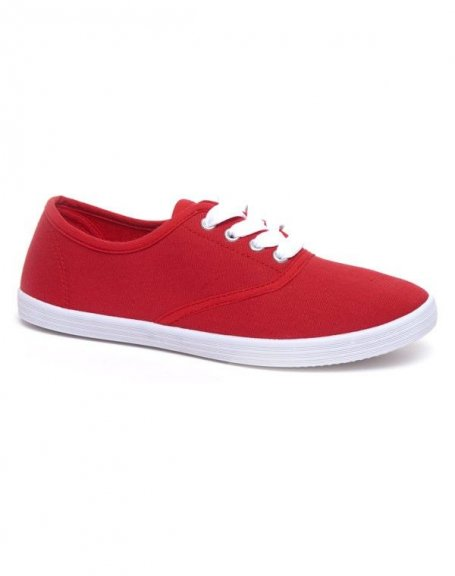 Chaussures femme Ideal: Tennis rouge