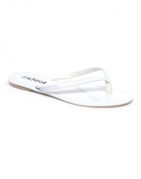 Chaussures femme Ideal: Tong blanche