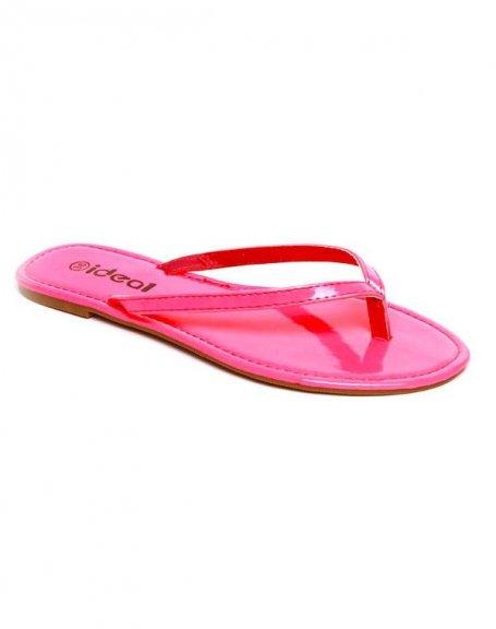 Chaussures femme Ideal: Tong fuchsia