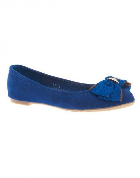 Chaussures femme Jennika: Ballerine bleue