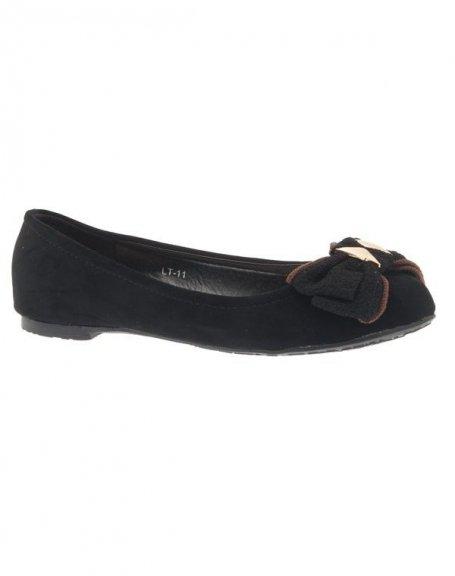 Chaussures femme Jennika: Ballerine noire