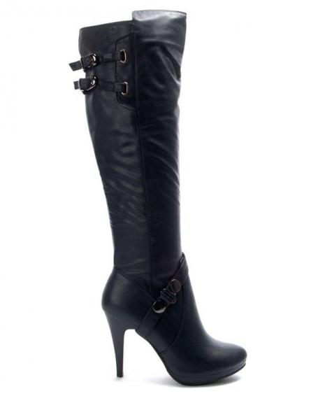 Chaussures femme Jennika: Botte à talon bleu