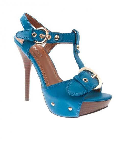 Chaussures femme Jennika: Escarpin bleu