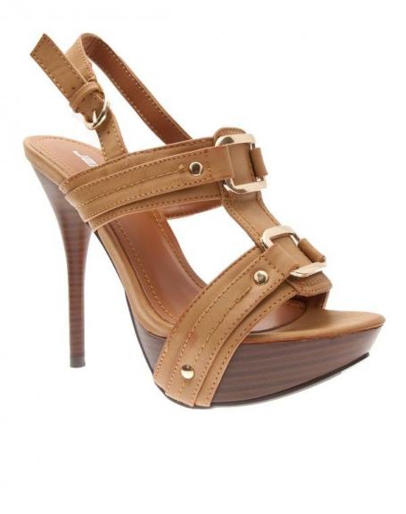 Chaussures femme Jennika: Escarpin camel