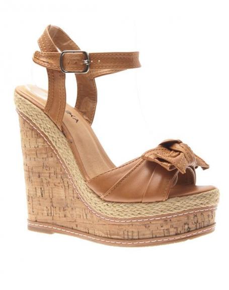 Chaussure compensée camel