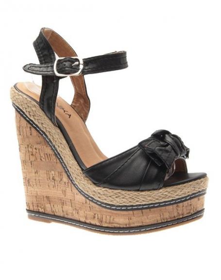 Chaussures femme Jennika: Escarpin compensé noir