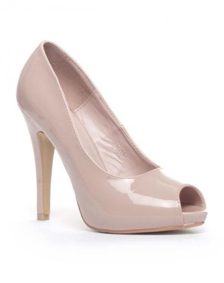 Chaussures femme Jennika: Escarpin open-toes rose (pâle)