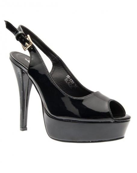 Chaussures femme Jennika: Escarpin ouvert noir