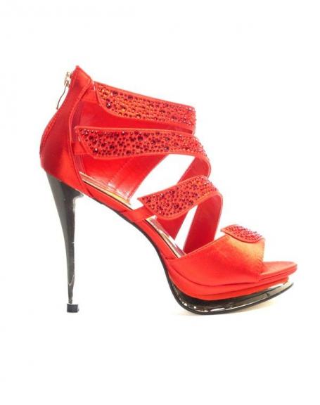 Chaussures femme Jennika: Escarpin rouge