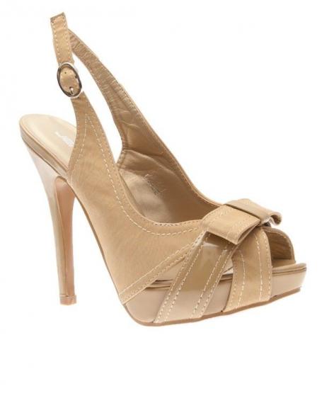Chaussures femme Jennika: Escarpins ouverts beige