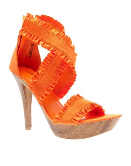 Chaussures femme Jennika: Escarpins ouverts orange