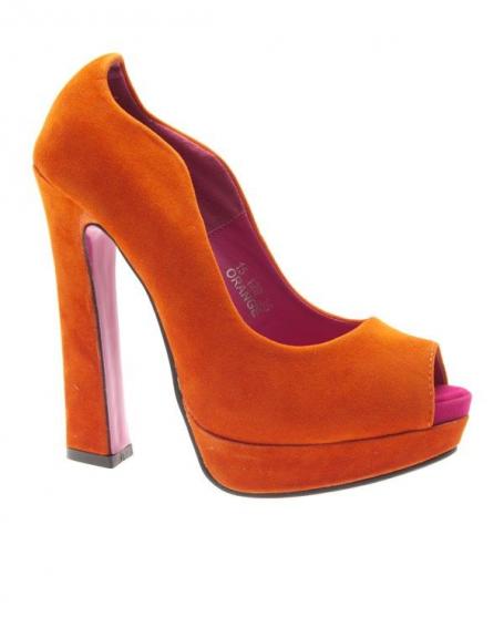 Chaussures femme Jennika: Escarpins ouverts Oranges