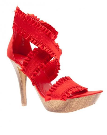 Chaussures femme Jennika: Escarpins ouverts rouge